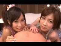 小島みなみ&奥田咲!最高ルックスの2人とハーレム3P!