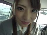 関西弁のめちゃ可愛い女の子が車内でフェラ