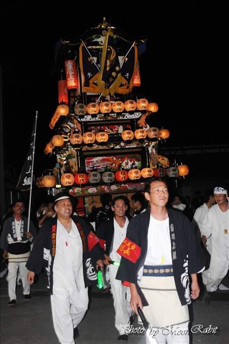 (西条祭り 2010) 楢本祭(楢本神社祭り) 常心上組だんじり(大南屋台・楽車) 愛媛県西条市大南上 2010年10月10日