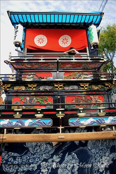 四軒町だんじり(屋台・楽車)の胴板彫刻など 西条祭り 伊曽乃神社祭礼 JA西条神拝支所にて 2010年10月15日