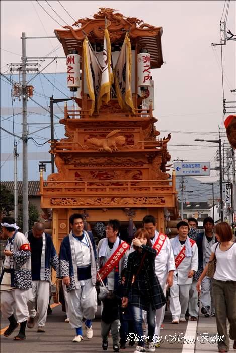 西条祭り2010 洲之内だんじり(屋台・楽車) 伊曽乃神社祭礼 伊予西条駅近くにて 2010年10月15日