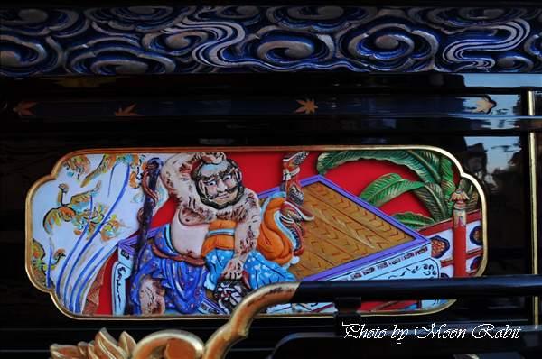 中野一番だんじり(屋台・楽車)の胴板 西条祭り2010 伊曽乃神社祭礼 御殿前(西条高校前) 愛媛県西条市明屋敷 2010年10月16日