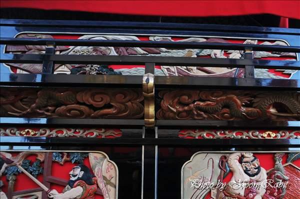 中之段だんじり(屋台・楽車)の胴板 西条祭り2010 伊曽乃神社祭礼 御殿前(西条高校前) 愛媛県西条市明屋敷 2010年10月16日