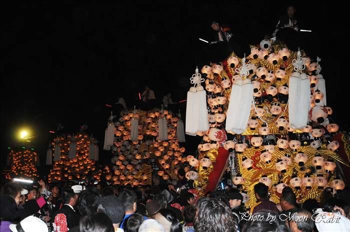 (西条祭り 2010 伊曽乃神社祭礼関係) お旅所 北浜みこし(喜多浜御輿) 愛媛県西条市大南上 2010年10月16日