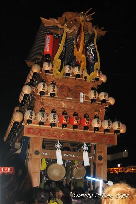 (西条祭り 2010 伊曽乃神社祭礼関係) お旅所 上喜多川だんじり(屋台・楽車) 愛媛県西条市大南上 2010年10月16日