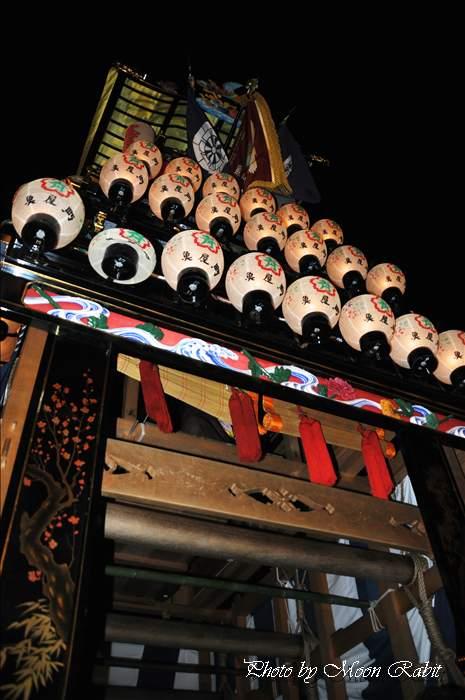 (西条祭り 2010 伊曽乃神社祭礼関係) お旅所 魚屋町だんじり(屋台・楽車) 愛媛県西条市大南上 2010年10月16日