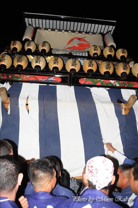 (西条祭り 2010 伊曽乃神社祭礼関係) お旅所 紺屋町だんじり(屋台・楽車) 愛媛県西条市大南上 2010年10月16日