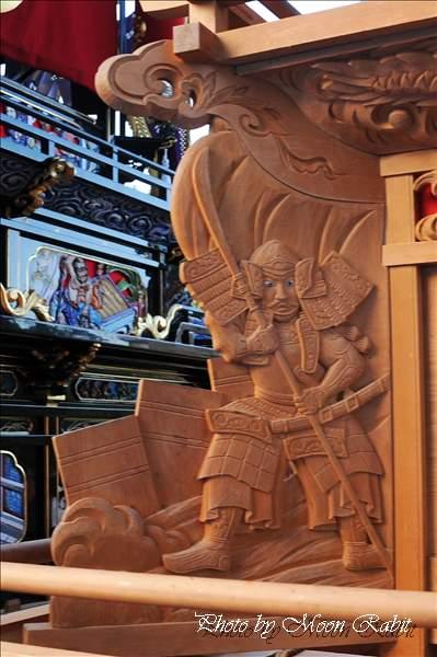山道だんじり(屋台・楽車)の胴板・隅障子 西条祭り2010 伊曽乃神社祭礼 御殿前(西条高校前) 愛媛県西条市明屋敷 2010年10月16日