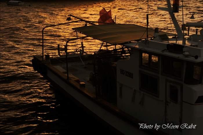 北浜漁港の夕景色 愛媛県西条市新堀下より 2010年10月26日
