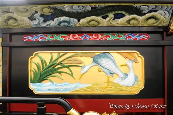 西条祭り2010 楢之木だんじり(楢の木屋台・楽車)の胴板彫刻など 氷見石岡神社祭礼関係 2010年