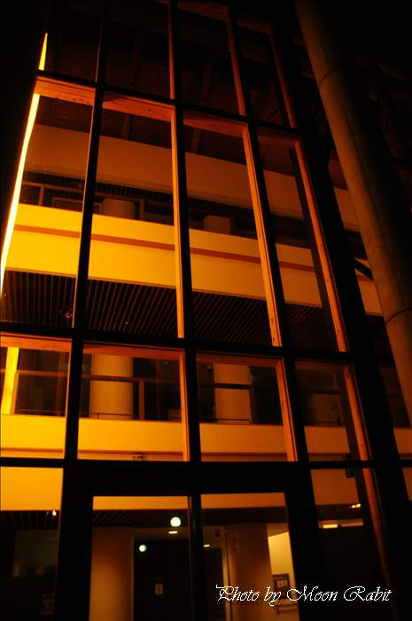 西条市の夜景 西条市役所 総合福祉センター(西条市総合福祉センター)の夜景 愛媛県西条市上神拝 2010年2月19日