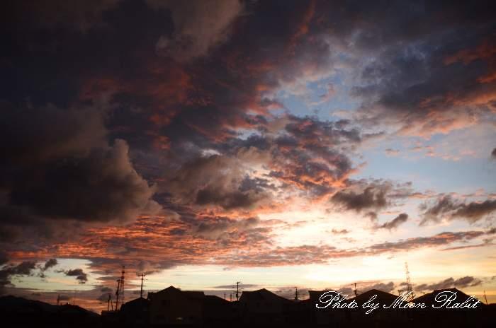 メゾンAKIRA付近の夕雲 愛媛県西条市喜多川589-12