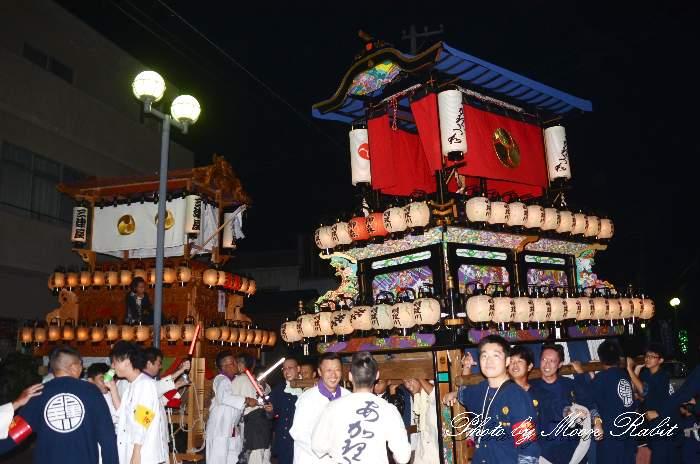 東予秋祭り前夜祭 明理川だんじり(屋台・楽車) 愛媛県西条市新地通り商店街
