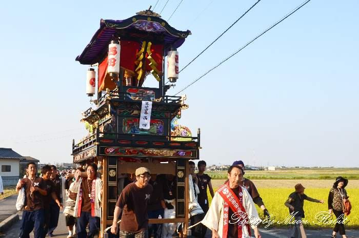 渡御行列 石岡神社祭礼 西田だんじり(屋台・楽車) 西条祭り2012 愛媛県西条市氷見