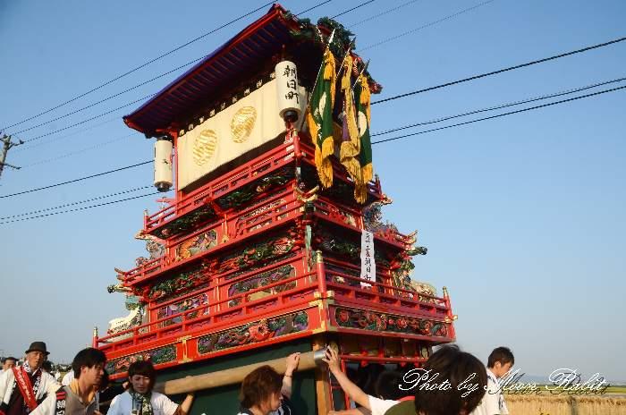 渡御行列 石岡神社祭礼 朝日町だんじり(屋台・楽車) 西条祭り2012 愛媛県西条市氷見