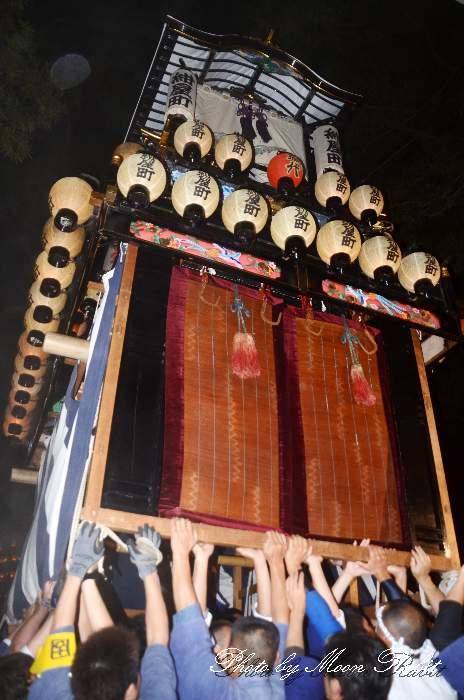 伊曽乃神社祭礼 紺屋町だんじり(屋台・楽車) 宮出し 西条祭り2012 愛媛県西条市