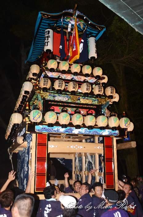 伊曽乃神社祭礼 四軒町だんじり(屋台・楽車) 宮出し 西条祭り2012 愛媛県西条市