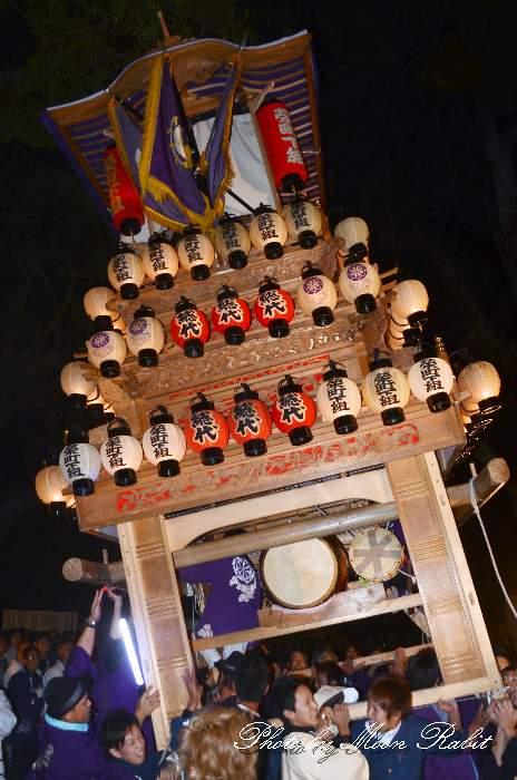 伊曽乃神社祭礼 栄町下組だんじり(榮町下組屋台・楽車) 宮出し 西条祭り2012 愛媛県西条市