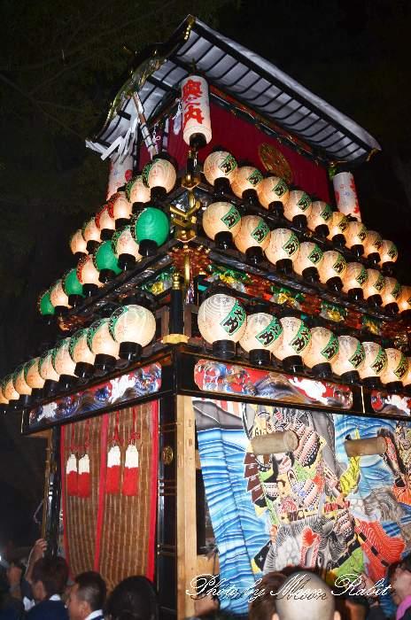 伊曽乃神社祭礼 奥之内だんじり(奥の内屋台・楽車) 宮出し 西条祭り2012 愛媛県西条市