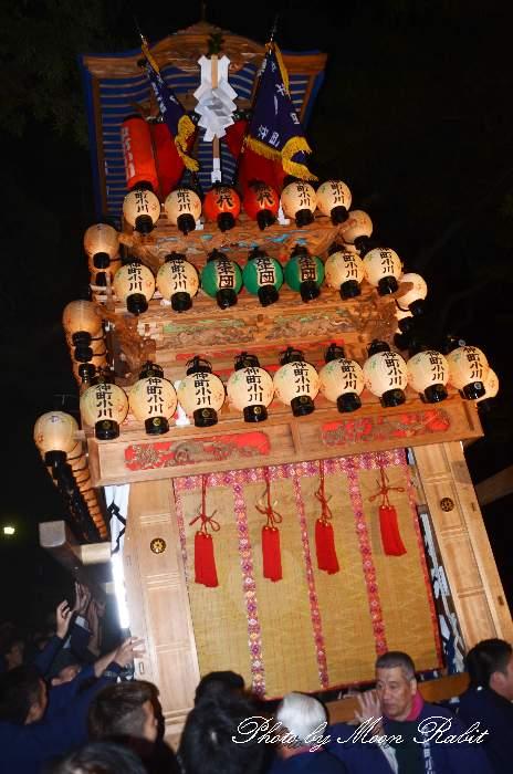 伊曽乃神社祭礼 仲町小川だんじり(屋台・楽車) 宮出し 西条祭り2012 愛媛県西条市