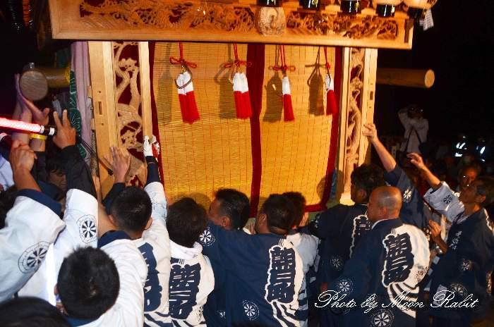 伊曽乃神社祭礼 朝日町だんじり(屋台・楽車) 宮出し 西条祭り2012 愛媛県西条市
