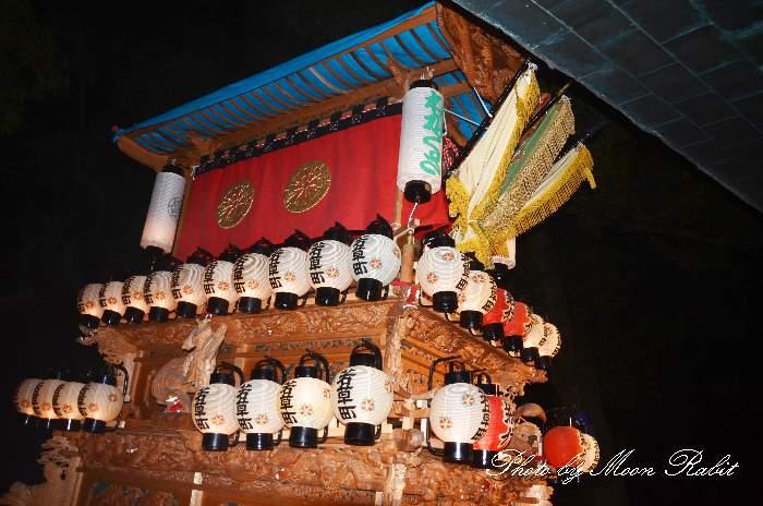 伊曽乃神社祭礼 若草町だんじり(屋台・楽車) 宮出し 西条祭り2012 愛媛県西条市