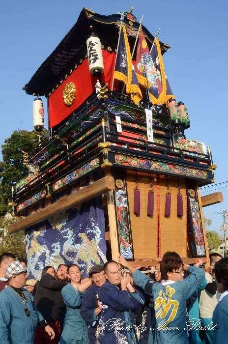 西条祭り2012 御殿前 錦町だんじり(屋台・楽車) 伊曽乃神社祭礼 愛媛県西条市明屋敷