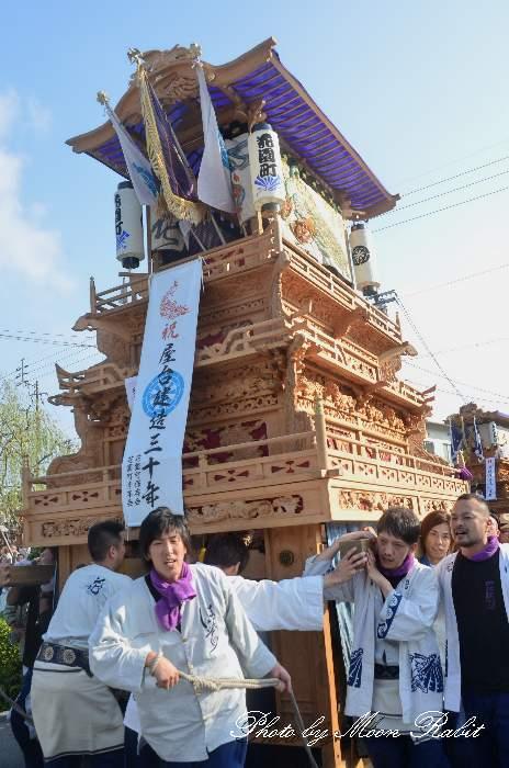 西条祭り2012 御殿前 花園町だんじり(屋台・楽車) 伊曽乃神社祭礼 愛媛県西条市明屋敷