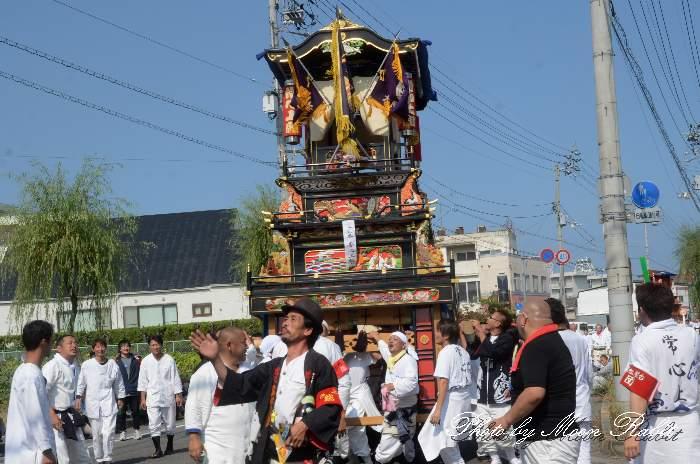 常心上組だんじり(大南屋台・楽車) 統一運行 西条祭り2012 伊曽乃神社祭礼 愛媛県西条市神拝
