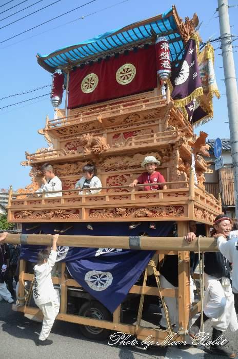 常盤巷だんじり(屋台・楽車) 統一運行 西条祭り2012 伊曽乃神社祭礼 愛媛県西条市神拝