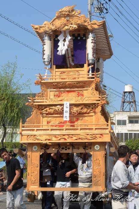都町だんじり(屋台・楽車) 統一運行 西条祭り2012 伊曽乃神社祭礼 愛媛県西条市神拝