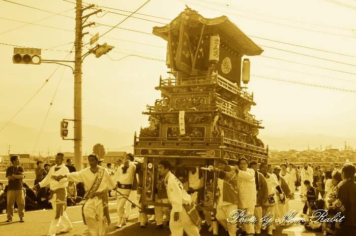 新地だんじり(屋台・楽車) 西条祭り2012 玉津 伊曽乃神社祭礼 愛媛県西条市 玉津橋