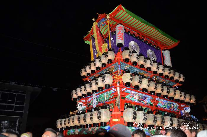 伊曽乃神社祭礼 後夜祭 新地だんじり(屋台・楽車) 御殿前 西条祭り2012 愛媛県西条市明屋敷