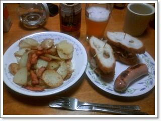 いかにもドイツな料理とビール