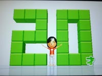 Wii Fit Plus 8月12日のバランス年齢 20歳