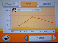 Fitness Party 1月9日カロリー 合計 225kcal