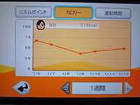Fitness Party 1月12日カロリー 合計 318kcal