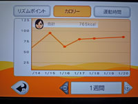Fitness Party 2011年1月20日カロリー 合計 765kcal