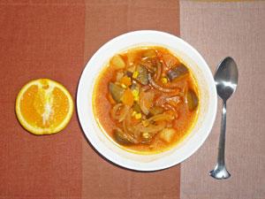 ミネストローネスープ,オレンジ