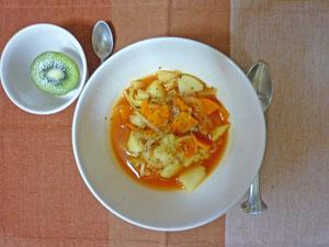 ミネストローネスープ,キウイフルーツ