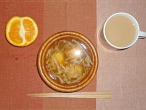 明石焼き入りのスープ,オレンジ,ミルクティー