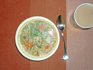 ちゃんこスープ,ミルクティー(豆乳です!)