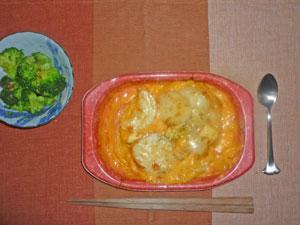 ポテトグラタン,ブロッコリーサラダ