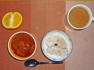 五穀米,東京ボルシチ,ネーブルオレンジ,ミルクティー