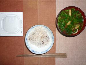 納豆ご飯,おみそ汁,アイス
