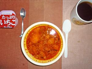 牛カルビクッパ風スープご飯,ヨーグルト