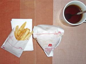 モスバーガー,フレンチフライ(S),麦茶