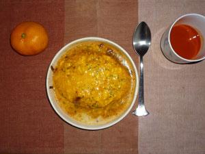 オムライスドリア,野菜ジュース,みかん