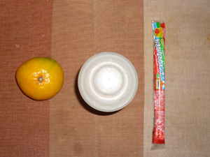 ダイエットプロテイン,おさかなソーセージ,みかん