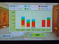 Wii フィットプラス 運動時間と運動種類のグラフ